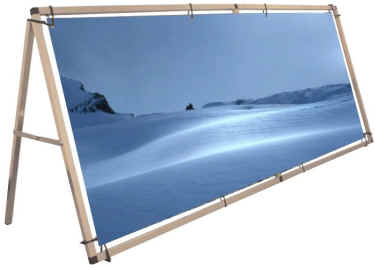 monsoon banner display frame