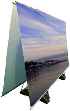 Horizon outdoor banner stands.