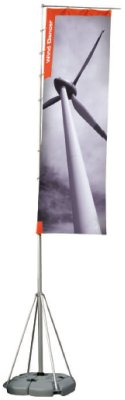 Wind Dancer Maxi portable outdoor flag pole display system..