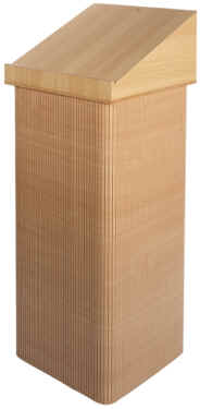 Portable Lectern with beech wrap and laminate top.