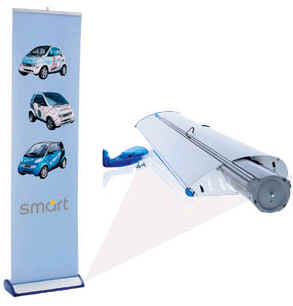 rollup banner stand removable cartridge